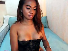 Naughty brunette with big tits playing pussy solo on webcam