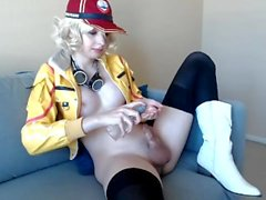 Super Cute Teen Shemale Sue in Cindy Aurum Cosplay On Webcam