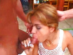 tgirl fucked by 2 dudes outdoor