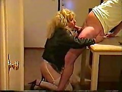 Shemale Prostitute Blowing Stiff Dick