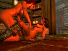 Skyrim futa 0Sex - Kaena and Lydia waiting for the casserole to cook
