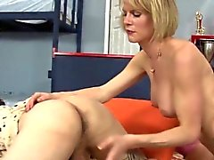 Horny busty shemale banged in her bottom