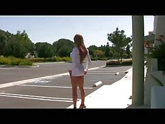 Beautiful Sexytrannykitty from AST In White Dress Outside