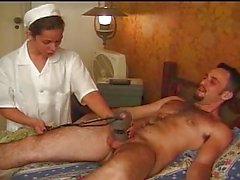 Teen shemale nurse screwed by her patient