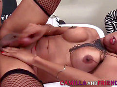 Breasty latin transsexual Jhoany Wilker Gets butt-banged
