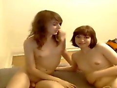 Two teens oral sex on webcam
