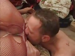 Big tranny gets sucked & ass licked