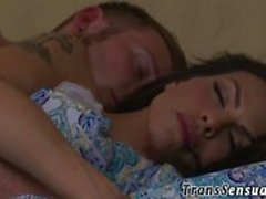 Fucked ts babe swallows