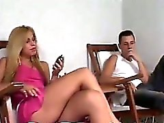 Blonde Shemale Fucking With Each Other
