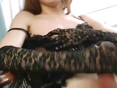 Cute Japanese Kitty Jacks Cock
