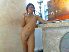 Young colombian brunette show her smooth body 01