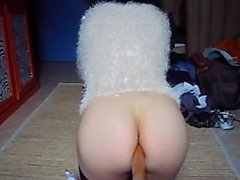 Simatra Sexy Brunette Slide Big Anal Destroy asshole # 1