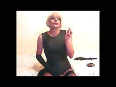 Stroking And Smoking Vamp Lola