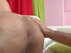 Elegant tranny Itiel reveals her oral talents and indulges in anal sex