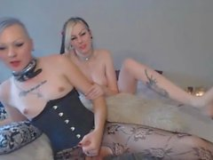 Kinky Tranny Pleasures Her Cock Inside a Wet Pussy