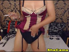 Shemale Sexy And Charming Jerk On Webcam