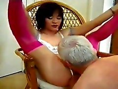 Man serves his ladyboy Mistress
