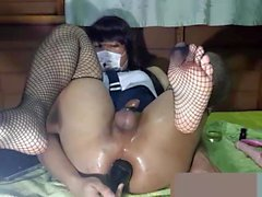 SissyThai Extreme Insertion And Sissygasm (No Hand Cum)