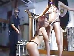 Bound Laisa Lins sucked by a girl