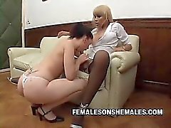 Shemale Sheina is the boss at her office and she's horny