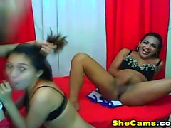 Shemale Trio Ass Licking And Fucking Action