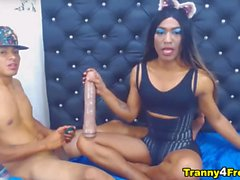 Wild Shemale and Lover Nasty Cam Show