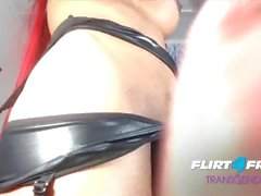 Angelica E on Flirt4Free Transgender - Redheaded Shemale Loads of Precum