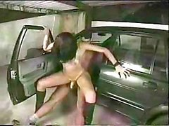Cristina Bianchini gets anal on a car