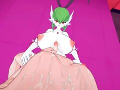 Pokemon: Futa Gardevoir busty bunny pleasure Futa Taker POV