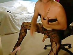 Randy CD in bodystocking solo