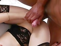 Small tits shemale Vixxen Goddess gets her asshole ripped