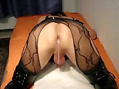 Asshole creampie crossdresser