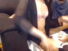Beautiful TGirl Jerked off By Her Boyfriend