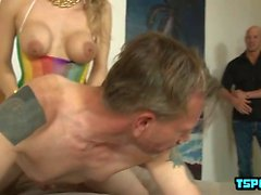 Hot transsexual fetish and cumshot